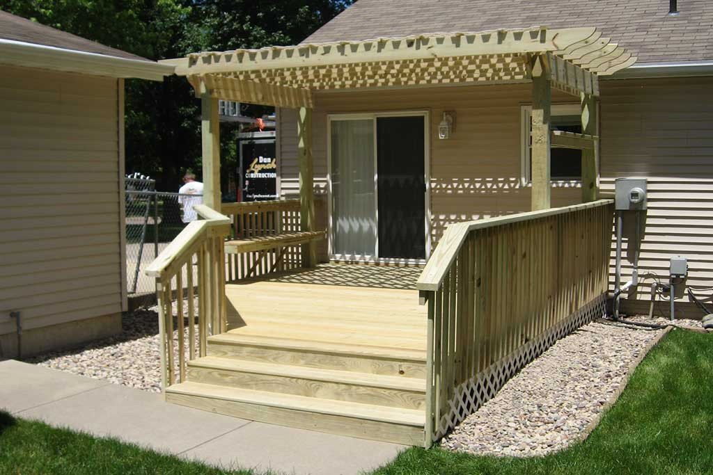 Deck, Pergola, and Bench Seat