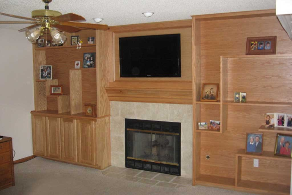 Fireplace Remodel and Built-in Shelves